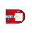 online buy bag gift present vector image