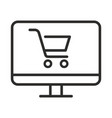 online shopping icon outline online shopping icon vector image vector image