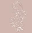 openwork flower vector image