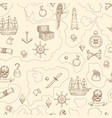 pirate map seamless nautical vintage detailed vector image vector image