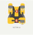 plain flat color diver underwater equipment vector image