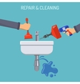 Plumbing Service Concept vector image vector image