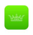 princess crown icon green vector image vector image