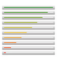 progress load bars from low to high - level vector image vector image