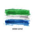 realistic watercolor painting flag sierra vector image vector image