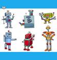 robot cartoon characters set vector image vector image