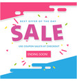 sale best of the day use coupon sale 70 at checkou vector image