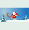 santa with christmas sled vector image vector image