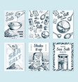 sea salt posters and banners vintage labels vector image vector image