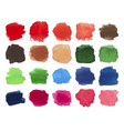 set of bright multicolored watercolor stains vector image vector image