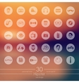 Set of hipster icons vector image vector image