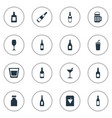 set simple drinks icons vector image