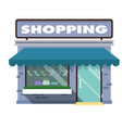 shopping infographic shopping store background vec vector image