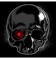 Skull on a black background vector image vector image