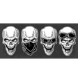 Skull smiling with bandana and glasses for vector image vector image
