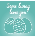 Some bunny loves you Easter lettering vector image vector image