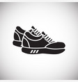 sport shoes icon on white background for graphic vector image vector image