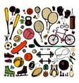sport sketch equipment hand drawn vector image vector image