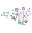 sports betting app concept vector image vector image