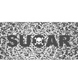 Sugar white death Skull and text on background of vector image