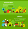 summer camp website banners vector image vector image