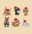 these cute animals vector image vector image