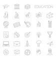 thin line education icon set vector image vector image