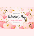 valentines day sale background discount offer vector image