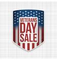 veterans day sale realistic shield vector image vector image