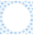 winter frame background with blue hand vector image vector image