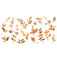 yellow branches and leaves vector image vector image