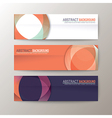 Set of modern design banners template vector image