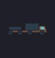 Vehicles computer symbol vector image