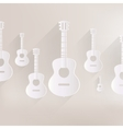 Guitar icon Music background vector image