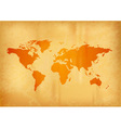 map of the world on the old paper vector image