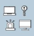 set technology tools communication concept vector image