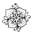 Amazing black flower in tattoo style vector image vector image