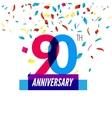 Anniversary design 90th icon anniversary vector image vector image