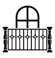 apartment balcony icon simple style vector image vector image