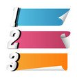 banner set of paper roll template image vector image
