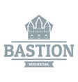 bastion medieval logo simple gray style vector image vector image