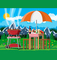 bbq party or picnic vector image