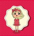 beautiful girl kawaii character vector image vector image