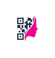 beauty barcode logo icon design vector image