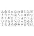 big set of halloween outline icon vector image