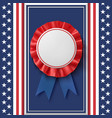 blank badge patriotic award ribbon on abstract vector image vector image