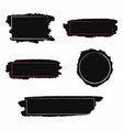 brush strokes set black paint inc brush stroke vector image vector image