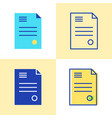 business contract icon set in flat and line style vector image