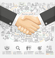 Business handshake Infographics option vector image