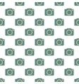 Camera pattern seamless vector image vector image